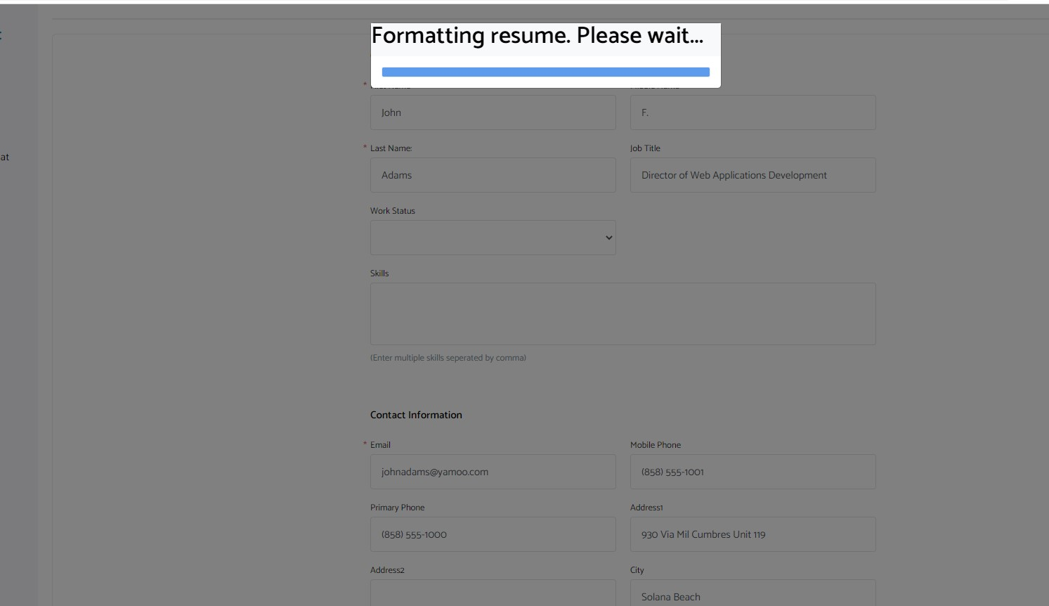 iReformat: Resume formatting progress